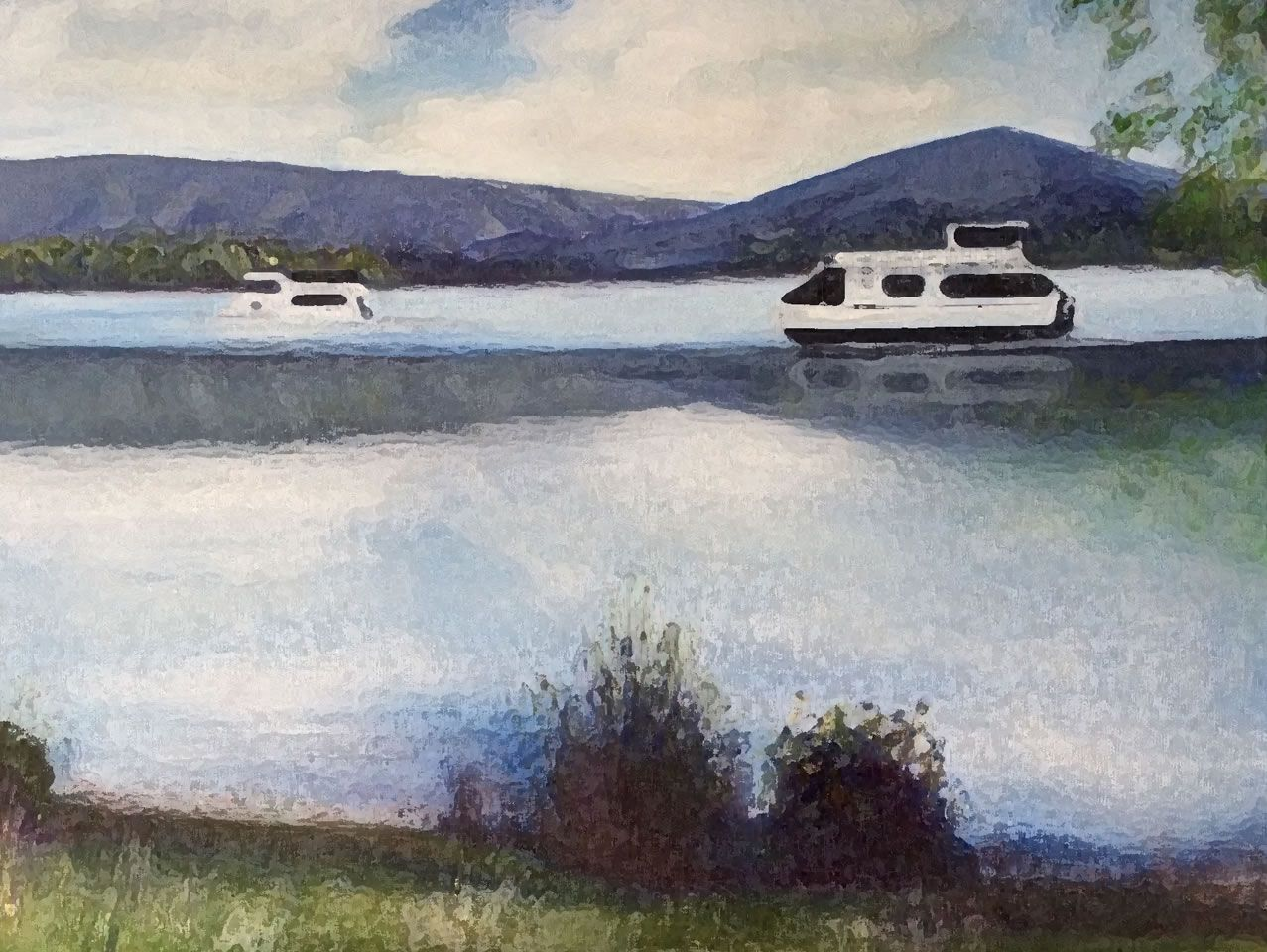 Eildon Lake with House Boats